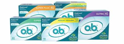 Free 18 Count Sample of O.B. Tampons Sample