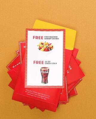 Free Red Envelopes at Panda Express (2/16)