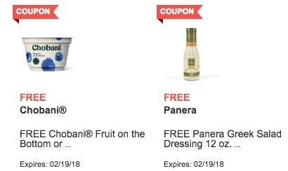 Free Chobani and Panera Greek Salad Dressing at Jewel-Osco