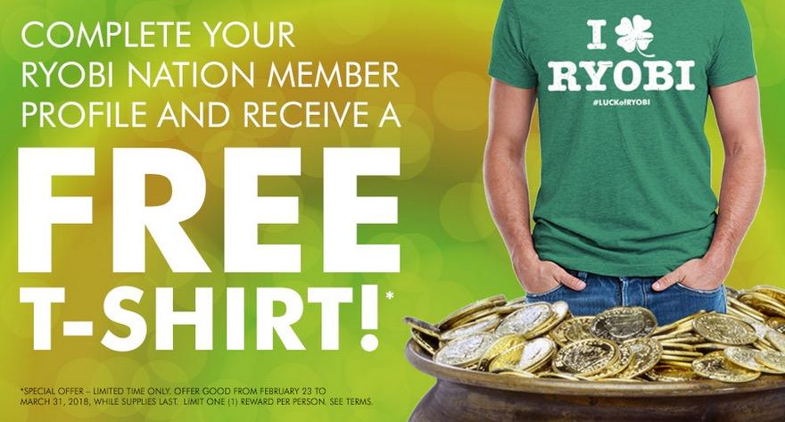 Free Ryobi T-Shirt