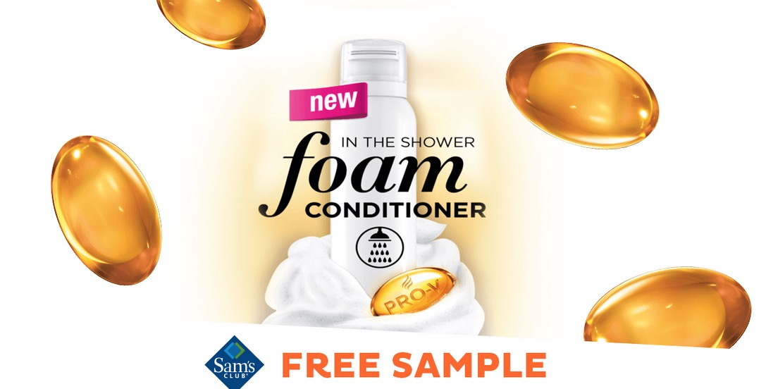 Free Pantene Foam Conditioner Sample at Sam's Club