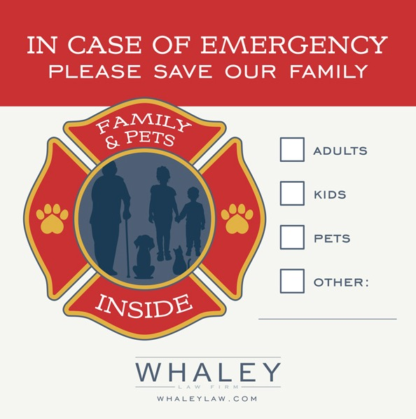 Free Fire Rescue Family & Pets Inside Window Decal