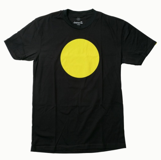 Free Yellow Circles T-Shirt and Stickers