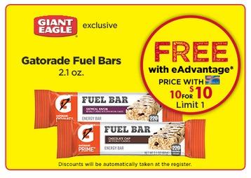 Free Gatorade Fuel Bar at Giant Eagle