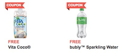Free Vita Coco Pressed Coconut Water and Bubly Sparkling Water at Jewel-Osco