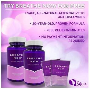 Free Breathe Now Sinus Relief Sample