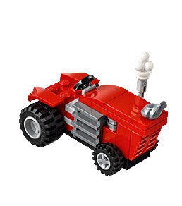 Free LEGO Tractor Model at LEGO Stores