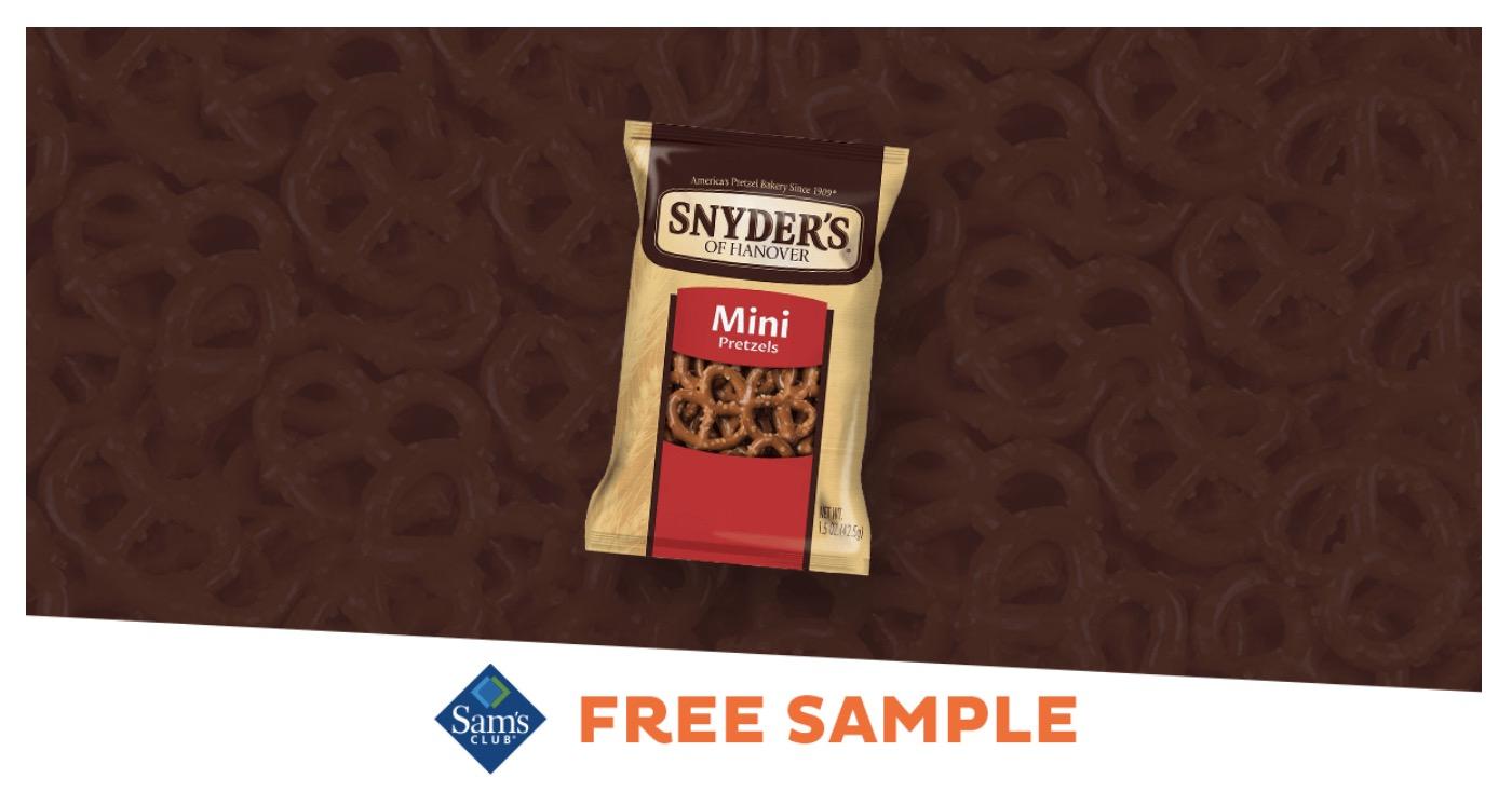 Free Snyder's of Hanover Mini Pretzels Sample at Sam's Club