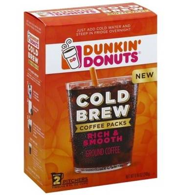 Free Dunkin' Donuts Cold Brew Coffee Sample Pack