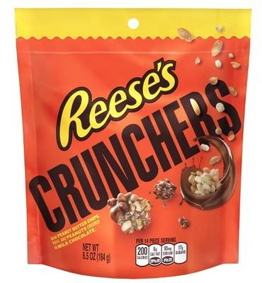 Free HERSHEY'S or Reese's Crunchers Snacks Bag at Stop & Shop, Giant Food, and Martins Foods Stores