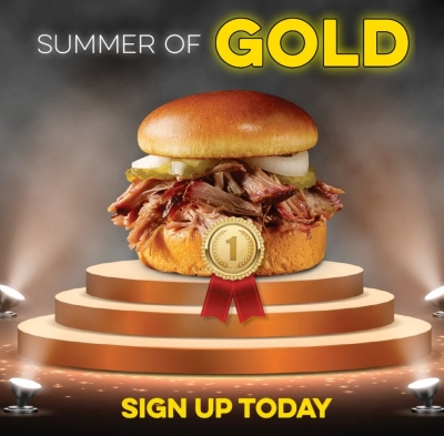 FREE Pulled Pork Sandwich at Dickey's Barbecue Pit Everyday USA Wins Gold