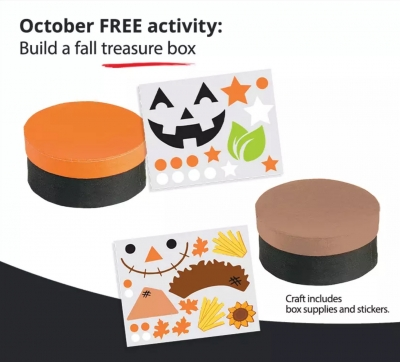 Free Craft Activity at JCPenney: Build a Fall Treasure Box (10/9)