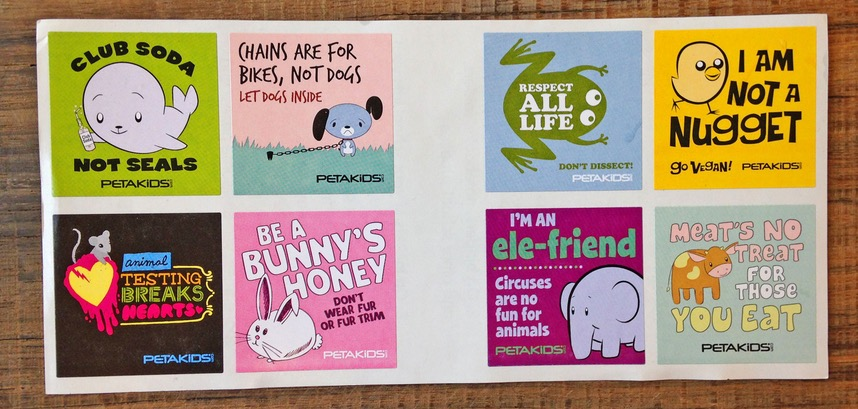 Free PETAKids Sticker Pack