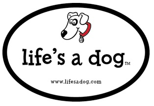 Life's a Dog - free bumper sticker