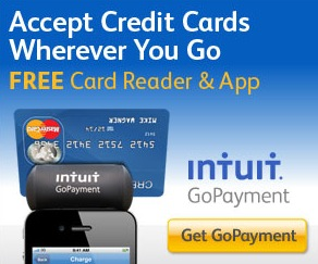 Free Intuit GoPayment Service and Mobile Phone Card Reader